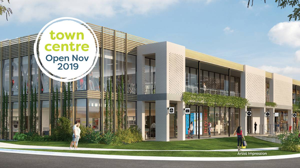 The architecturally-designed Sovereign Place town centre will open in November in the heart of the Sovereign Hills community.