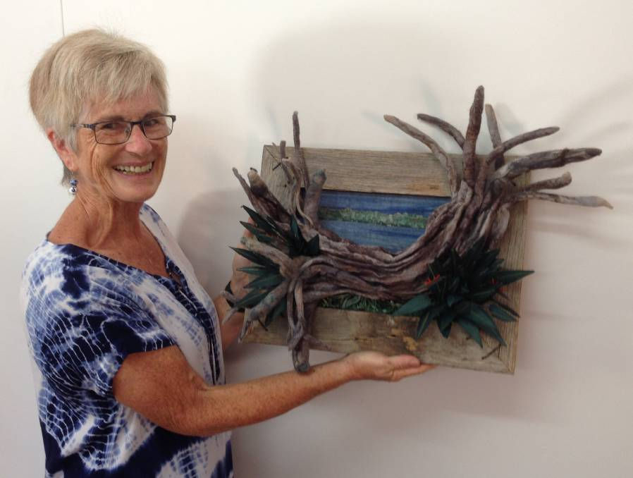Top work: Textile and fibre artist, Shirley Capon, with her artwork 'Beauty in Rest', inspired by a beautiful old tree along River Park Road.