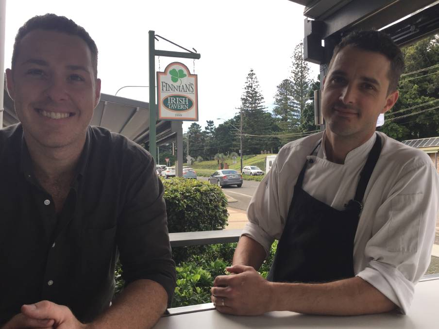 Dedication: Finnians licencee Corey Baker and head chef Stefan Hostettier are looking forward to the AHA NSW awards for excellence.