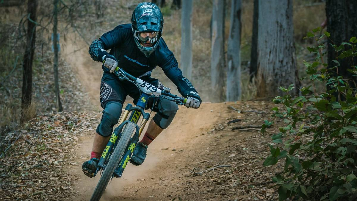 Won it: Luke Meier Smith claimed his first-ever national mountain biking title in Victoria last month. Photo: Facebook