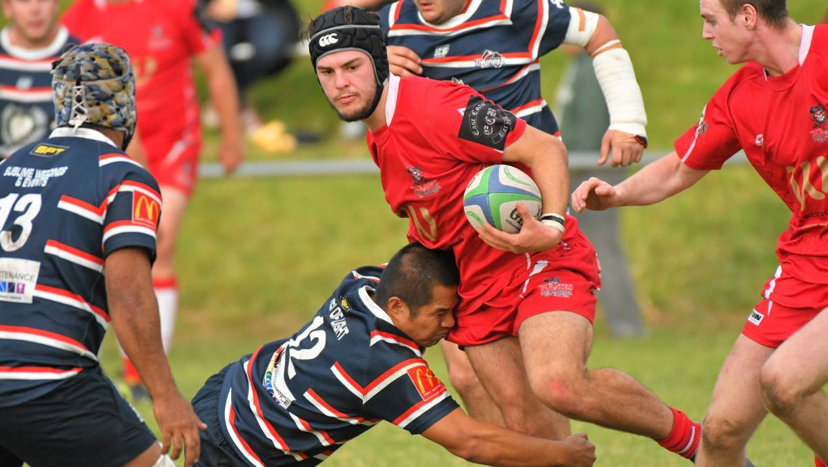 Shining light: Kaes Besseling has been impressive for new lower Mid North Coast rugby union team Barbarian Hogs.