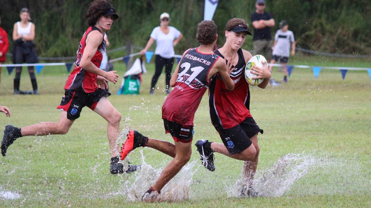 Splashing around: The NSW Junior State Cup had to be cancelled following an overnight deluge on February 19. Photo: Tracey Fairhurst