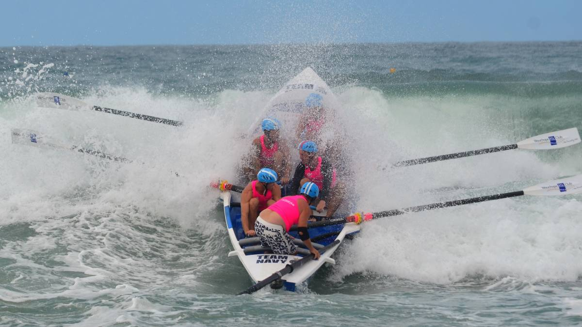 Starting point: Wauchope-Bonny Hills Surf Life Saving Club men's open crew have proven they can mix it with the best. Photo: Phil Kaufmann
