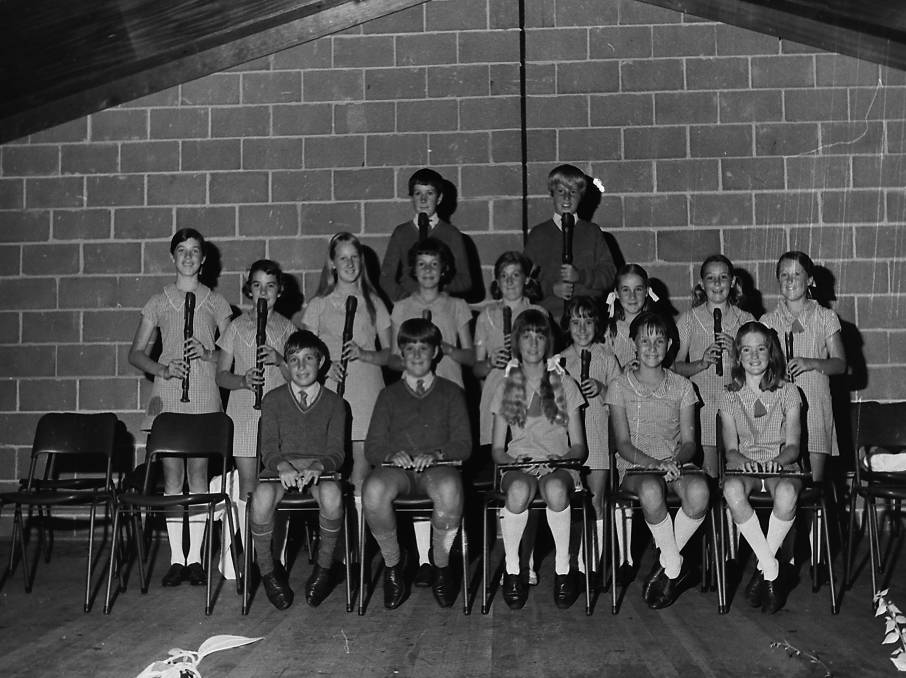 Port Macquarie Primary School Recorder Group, 1970.