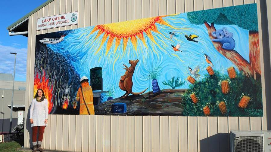 TRIBUTE: Artist Rachel Wells designed her creative concept for the first mural was to show appreciation and optimism.