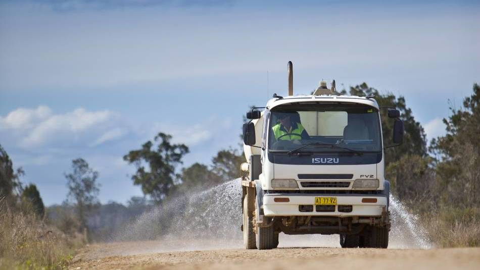 Lack of water places unsealed road grading on hold