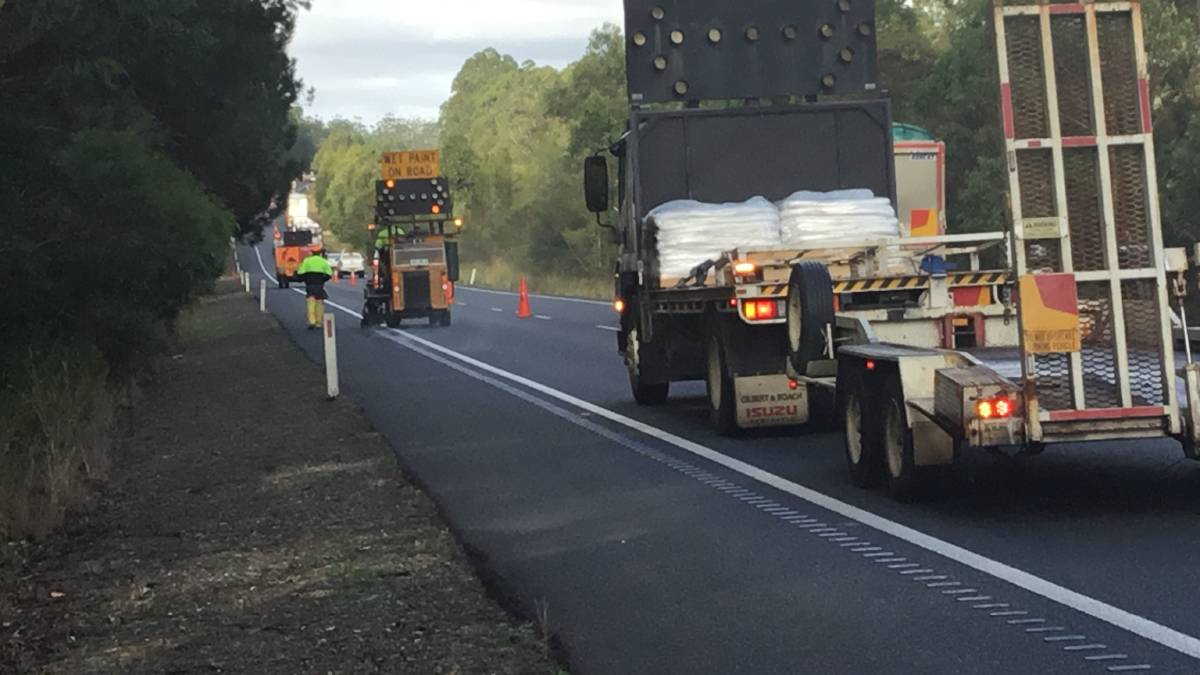 Work starts to rebuild the median and install a safety barrier on the Pacific Highway between Bago and Port Macquarie interchanges.
