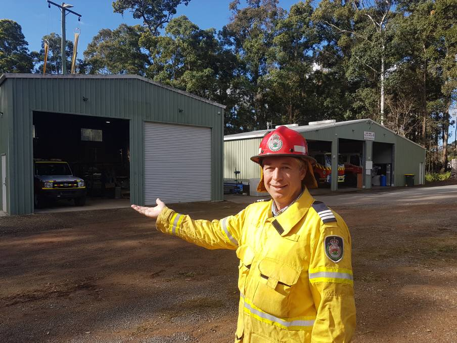 NEW EXTENSION: Lake Innes Rural Fire Brigade captain Kyle Goodsell.