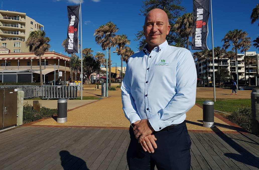 Ironman Port Macquarie: Port Macquarie Chamber of Commerce executive officer Mark Wilson.