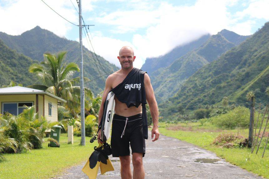 Damian King says he loves travel and surfing at different breaks around Australia and the world.(Supplied: Damian King).