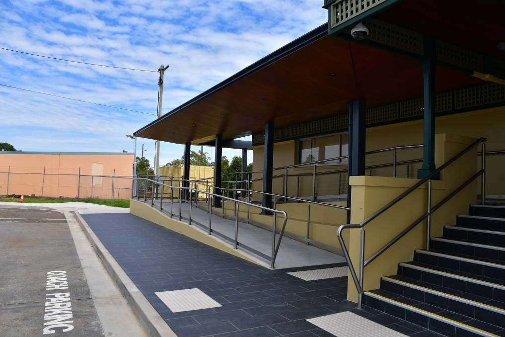 Upgrade complete: Wauchope Station has new and improved accessibility features.
