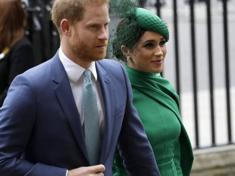 Meghan will watch on TV as Prince Harry walks in procession behind the coffin of Prince Philip.